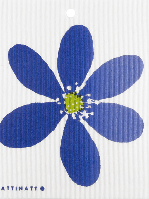 Blue Anemone Wash Towel (MIN 6)