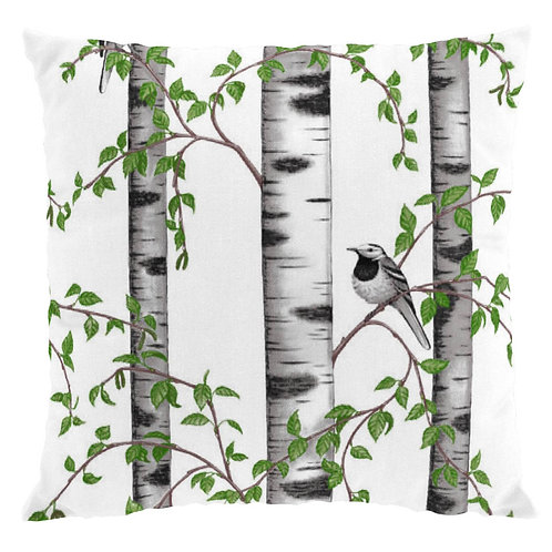 Birch Grove w/Bird Pillow