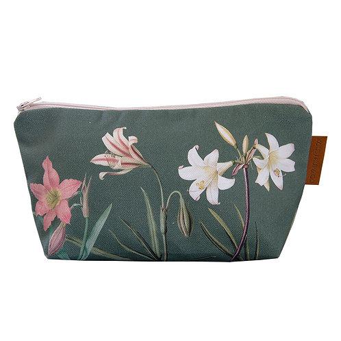 Gusseted Amaryllis Cosmetic Bag