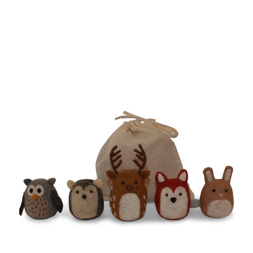 Set of 5 Forest Animals (MIN 4)