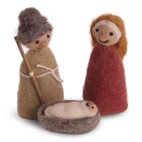 Nativity Play Jesus, Mary and Joseph, Set of 3 (MIN 4)