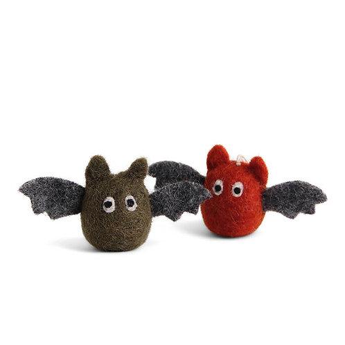 Green & Rusty Red Bat Ornament, Set of 2 (MIN 8)