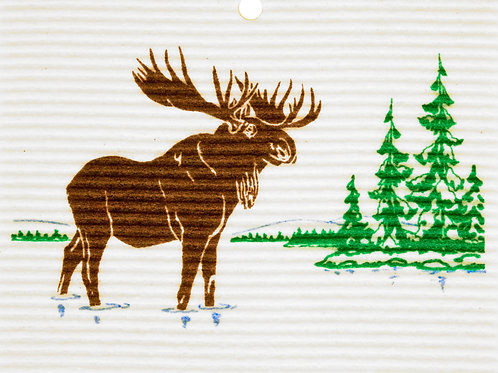 Moose in River by Harry W. Smith Wash Towel (MIN 6)