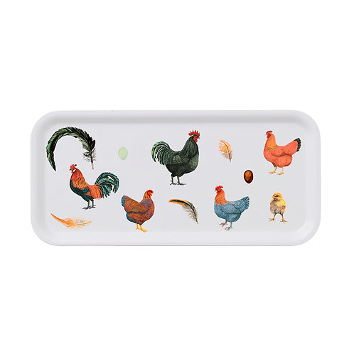 Chickens Rectanular Serving Tray