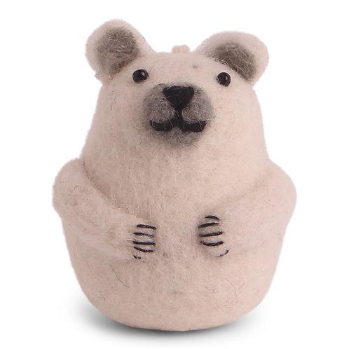 Mini Polar Bear Ornament (MIN 8)