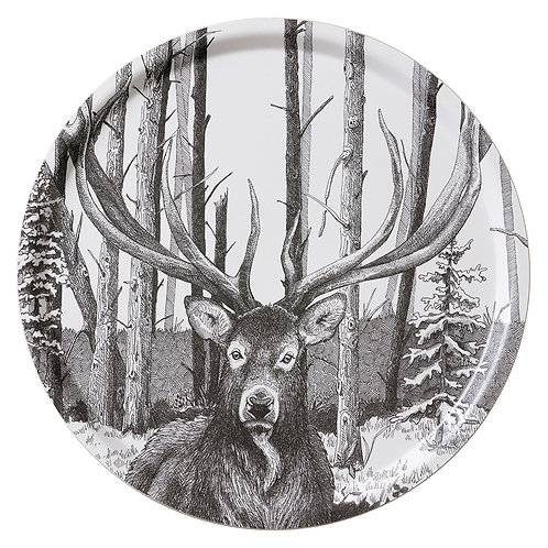 Deer Round Serving Tray