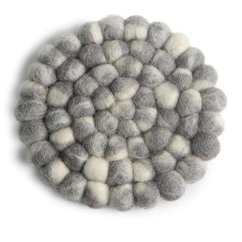 Grey Round Stone Ball Coasters, Set of 2 (MIN 4)