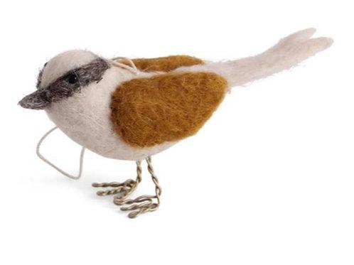 Gold Brown Bird Ornament (MIN 6)