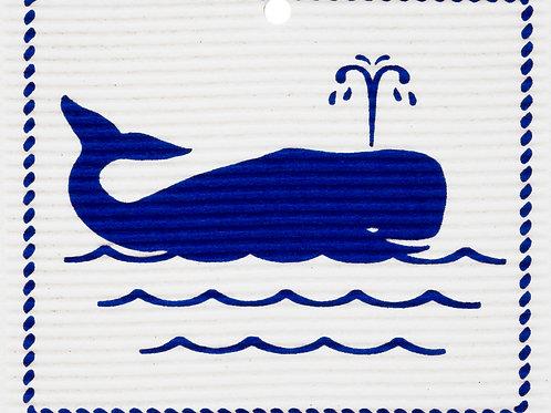 Blue Whale by Harry W. Smith Wash Towel (MIN 6)