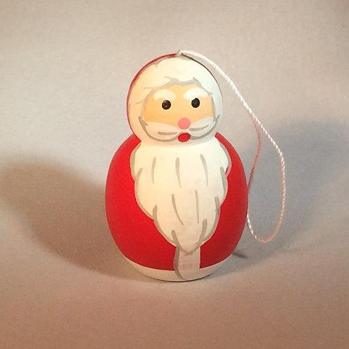 Handpainted Santa Ornament