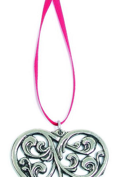 Acanthus Heart Ornament