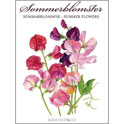 Summer Flowers Card Folder w/8 Note Cards