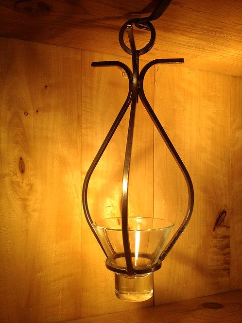 Teardrop Chandelier w/2 Links and 1 Glass Cup