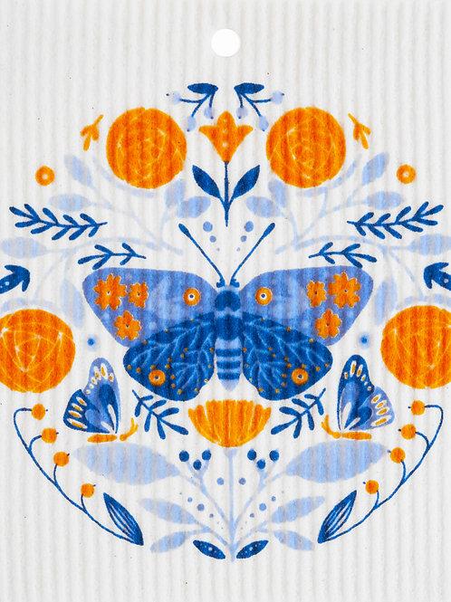 Butterfly in Floral Pattern Wash Towel (MIN 6)