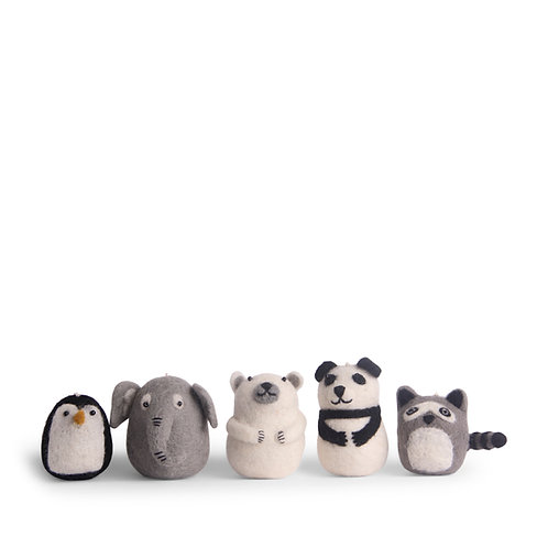 Set of 5 Zoo Animals (MIN 4)