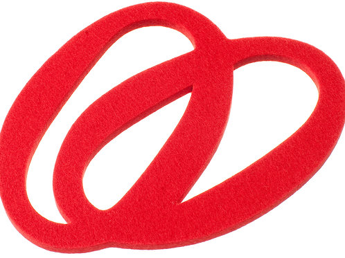 Small Red Silmu Trivet