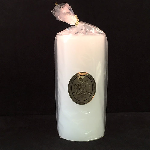 Tall Ivory Pillar Candle