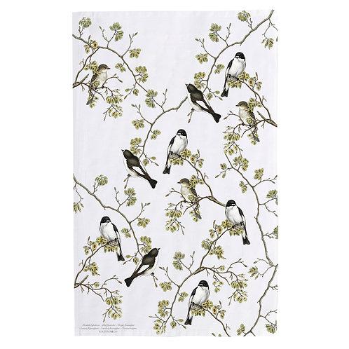 Pied Flycatcher Tea Towel