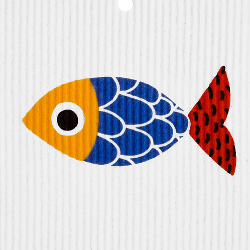 Funky Fish Wash Towel (MIN 6)
