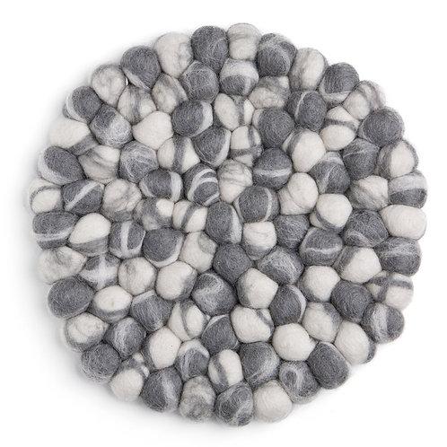 Grey Round Stone Ball Trivet (MIN 4)