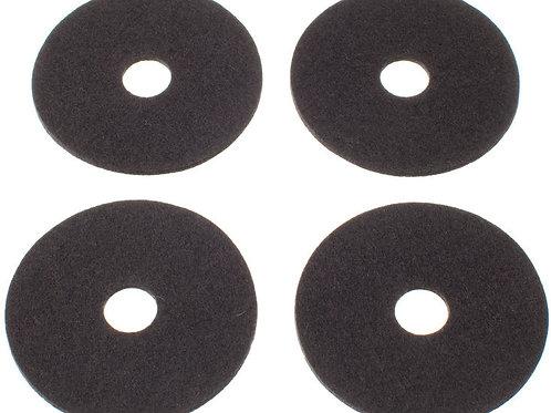 Dark Grey Rinki Coasters, Set of 4