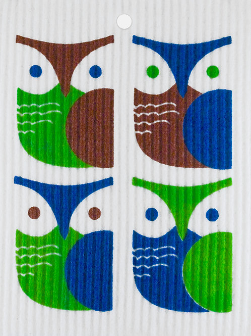 Brown, Green and Blue Owls (MIN 6)