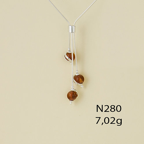 Three Circle Dangles Necklace