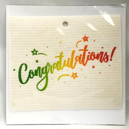 Congratulations Wash Towel Gift Card (MIN 6)