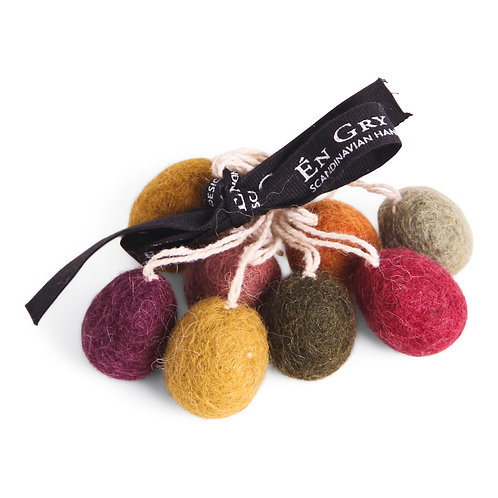 Dark Mini Egg Ornaments, Set of 3 (MIN 8)