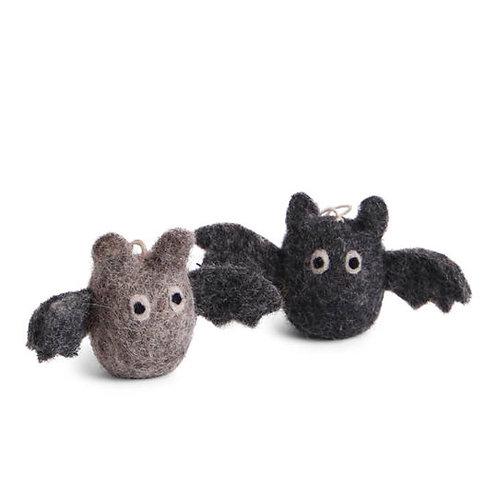 Grey & Black Bat Ornament, Set of 2 (MIN 8)