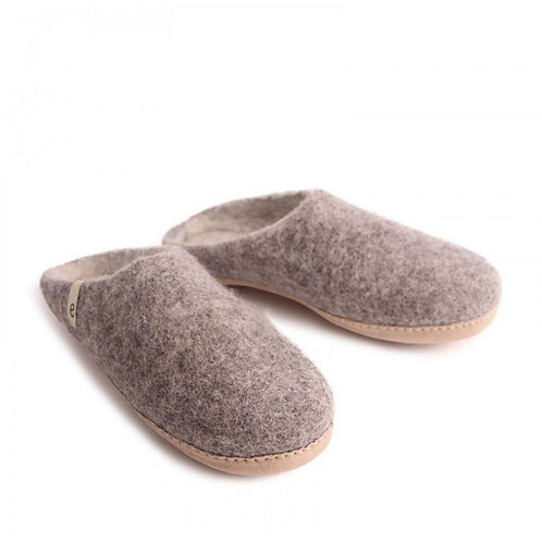Natural Grey Slippers