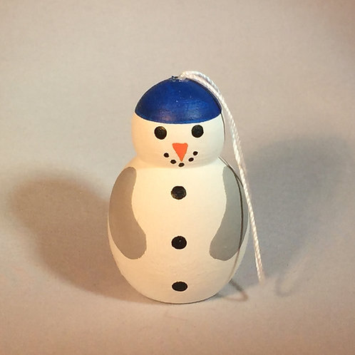 Handpainted Snowman Ornament