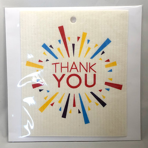 Thank You Wash Towel Gift Card (MIN 6)