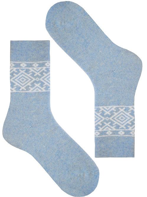 Light Blue Nordic Women's Socks