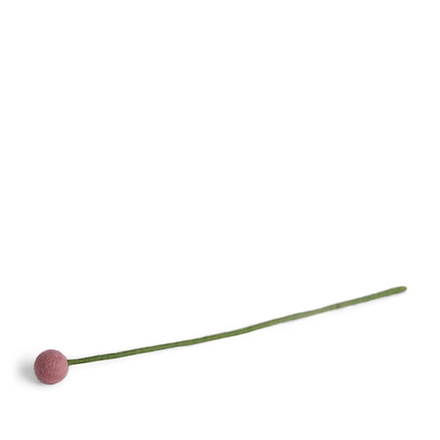 Small Dusty Rose Flower, pkg of 6 (MIN 1)