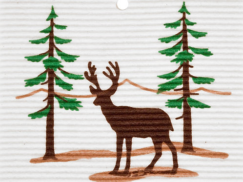 Deer in Forest by Harry W. Smith Wash Towel (MIN 6)
