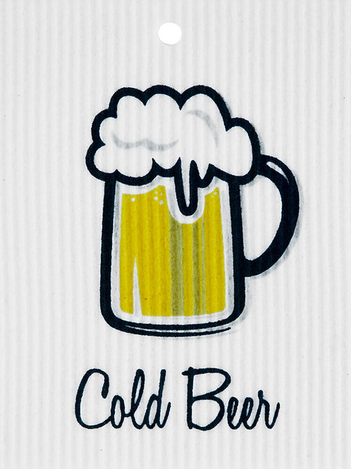 Cold Beer Wash Towel (MIN 6)