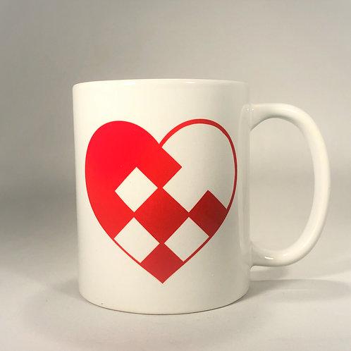 Pleated Heart Mug
