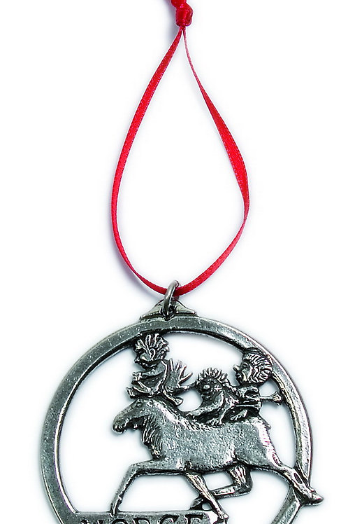 "Trolls on Moose ""Norge"" Ornament"