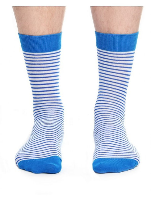 Black & Blue Thin Stripes Women's Socks