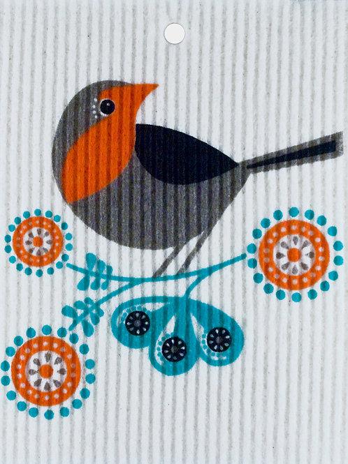 Paisley Bird Wash Towel (MIN 6)