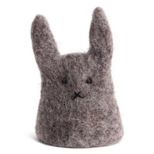 Grey Bunny Egg Cosy (MIN 8)