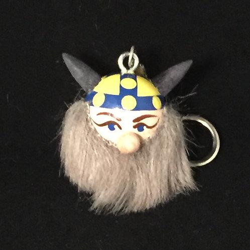 Viking Keychain w/Sweden Helmet