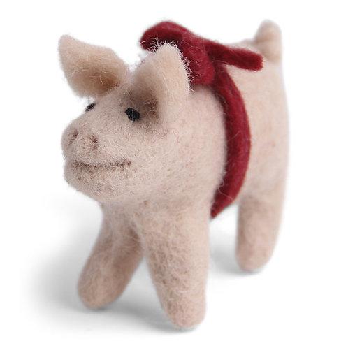 Pig w/Red Loop Ornament (MIN 8)