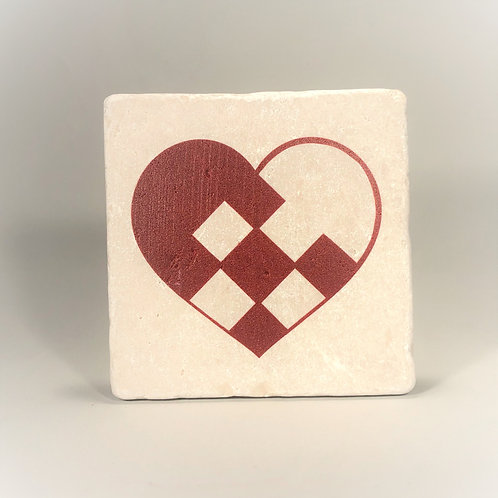 Pleated Heart Coaster