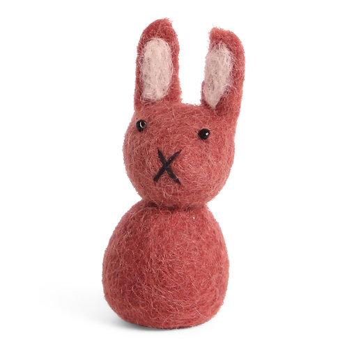 Small Red Bunny Ornament (MIN 8)