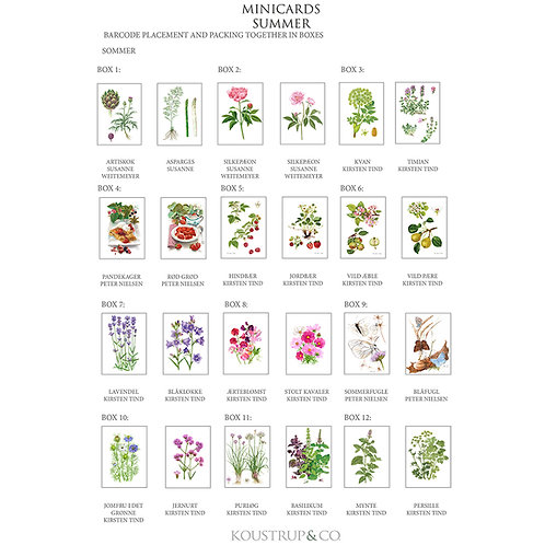 Summer Collection Mini Cards