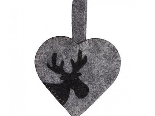 Heart Ornament w/Moose