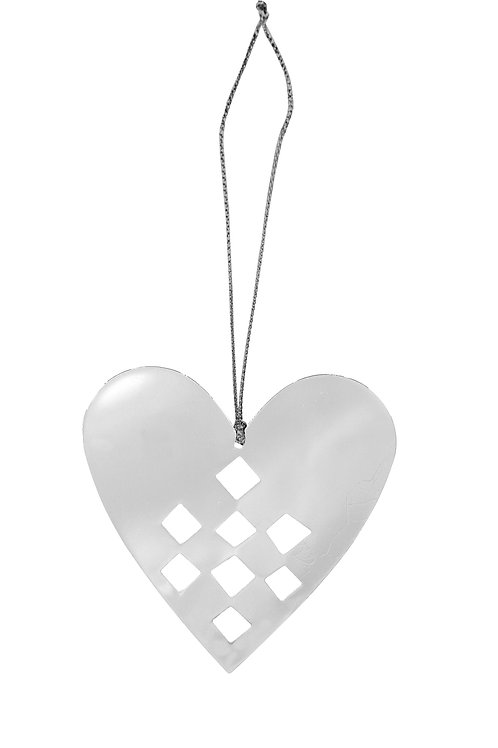 Pleated Heart Ornament