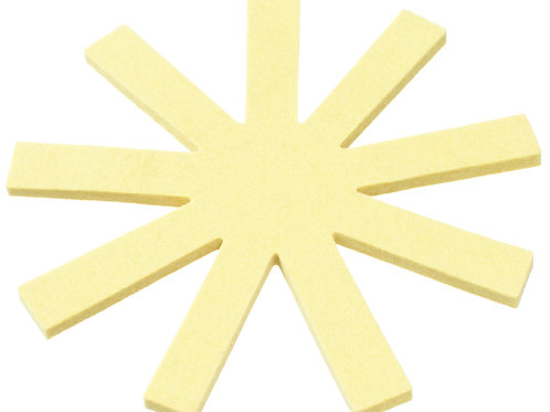 Round Yellow Olki Trivet